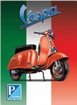 "10904 - Vespa 12"" x 16"" Vintage Metal Steel Advertising Sign Plaque"